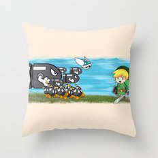 Link Boom Throw Pillow