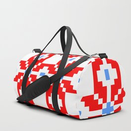 ethnic in red and blue Duffle Bag