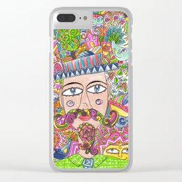 Man and his hat Clear iPhone Case
