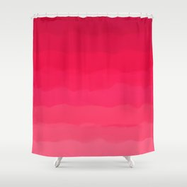 Perfectly Pink Ombre Shower Curtain