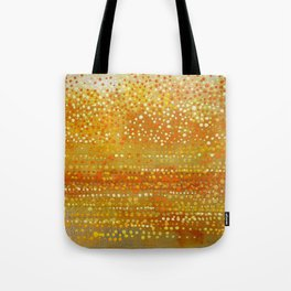 Landscape Dots - Orange Tote Bag
