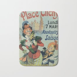 Flowers from Nice in Paris Place Clichy Bath Mat