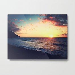 Kalalau Sunset Metal Print