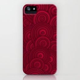 Dark Red iPhone Case