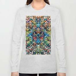 Bold Pattern Art - Color Fusion Design 8 By Sharon Cummings Long Sleeve T-shirt