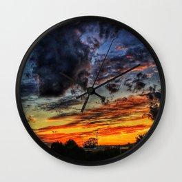 Last Sunset Of Summer Wall Clock