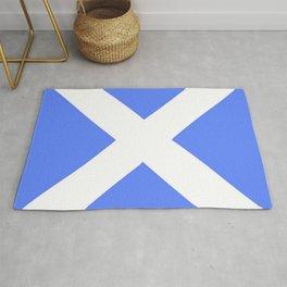 flag of scotland 4– scotland,scot,scottish,Glasgow,Edinburgh,Aberdeen,dundee,uk,cletic,celts,Gaelic Rug