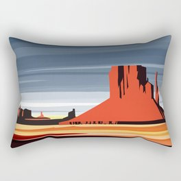 Monument Valley sunset magic realisim Rectangular Pillow