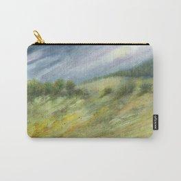 Precious Green Watercolor Landscape Carry-All Pouch