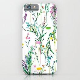 Fleur botanique iPhone Case