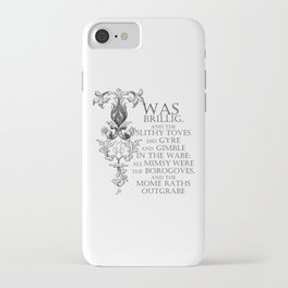 Alice In Wonderland Jabberwocky Poem iPhone Case