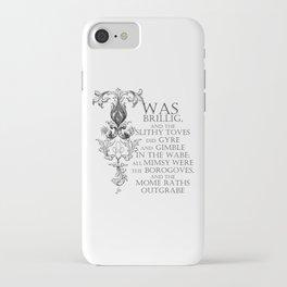 Alice In Wonderland Jabberwocky Poem iPhone Case