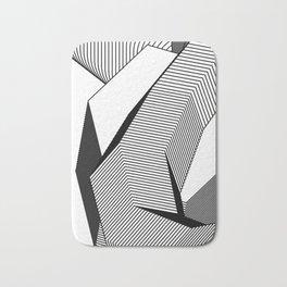 Abstract Geometric 3D Heart Bath Mat