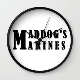Maddog's Marines  Making America Safe again Wall Clock