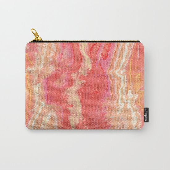 Texture pink and orange Carry-All Pouch