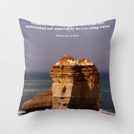 Stand Like a Rock Throw Pillow