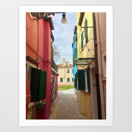 Been There, Shot That (Pt. 7 – Burano, Italy) Art Print