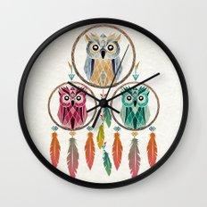 dream owl Wall Clock