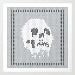 Skull Tile Art Print