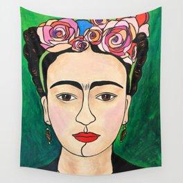Frida Khalo Portrait Wall Tapestry