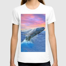 Breaching Humpback Whale at Sunset T-shirt