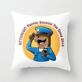 OtterCop 2014 Throw Pillow