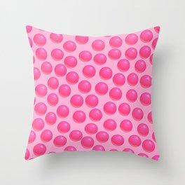 Bubblegum Pop - Pink Sugar Throw Pillow