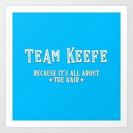 Team Keefe Art Print