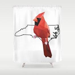 North Carolina Northern Cardinal Shower Curtain