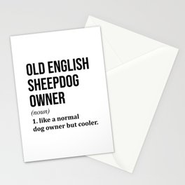 Old English Sheepdog Funny Stationery Cards