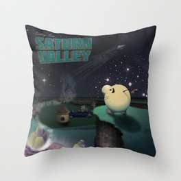 Earthbound - Greetings From Saturn Valley Throw Pillow