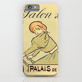 1894 Paris Second Expo of the bicycle horizontal banner iPhone Case