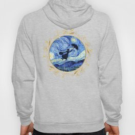 Mary Poppins Starry Night - Golden Floral Frame Hoody