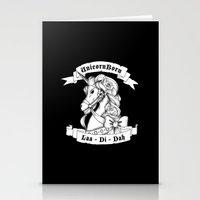 skyrim Stationery Cards featuring Skyrim Parody - Unicorn Born LAA DI DAH by MagicCircle
