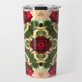 Old Red Rose Kaleidoscope 6 Travel Mug