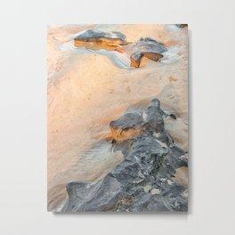 Rocks on beach, late afternoon Metal Print
