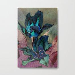 Vintage tulips(sapphire) Metal Print