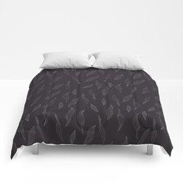 Linear Leaves - Dark Comforters