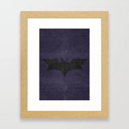 Caped Crusader -TDK Framed Art Print