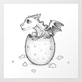Welcome to the world little dragon! Art Print