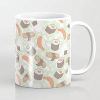 sushi Mugs featuring Sushi by Kvachi
