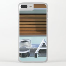 THE CAFE Clear iPhone Case