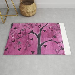 Coexistence Tree Art Acrylic Abstract painting by Saribelle Rug