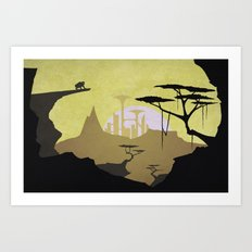 Abandoned city (day) Art Print