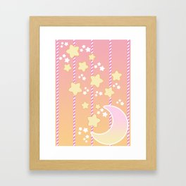 Tutti Fruity Moon Star Framed Art Print