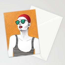 Stripe Swimmer Stationery Cards