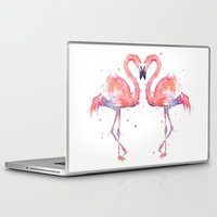 flamingo Laptop & iPad Skins featuring Flamingo  by Olechka