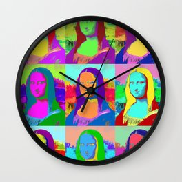 Mona Lisa - Pop Art Wall Clock