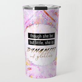 Watercolor Pastel Boho Dynamite and Glitter Travel Mug