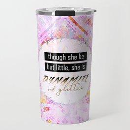 Watercolor Pastel Boho Dynamite and Glitter Travel Mug